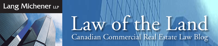 Canadian Commercial Real Estate Law Blog
